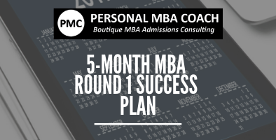 Personal MBA Coach's 5-Month Round 1 Success Plan