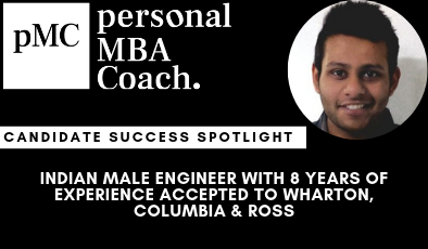 Candidate Success Spotlight: Indian Male Engineer With 8 Years of Experience Accepted To Wharton, Columbia & Ross